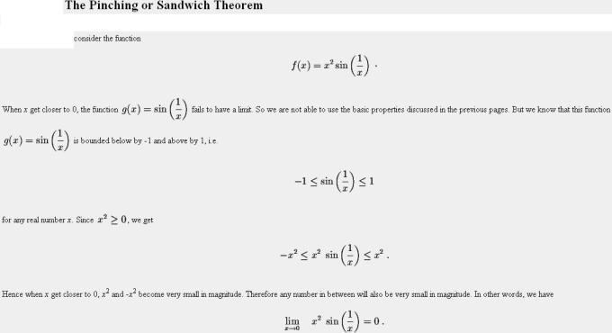 48c Sandwich or Pinching Theorem of Limits Mathematics