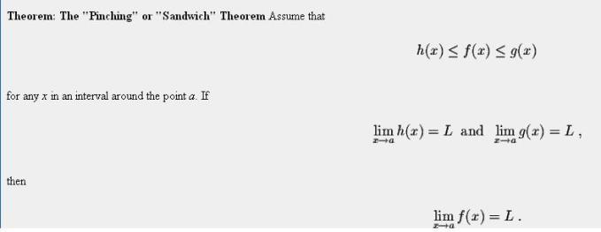 48d Sandwich or Pinching Theorem of Limits Mathematics