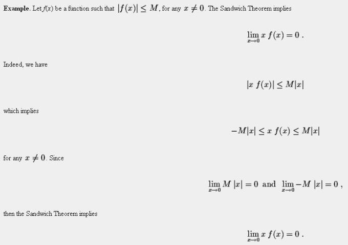 48e Sandwich or Pinching Theorem of Limits Mathematics