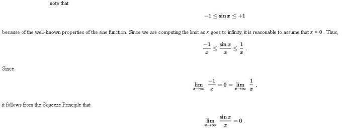 48g Sandwich or Pinching Theorem of Limits Mathematics