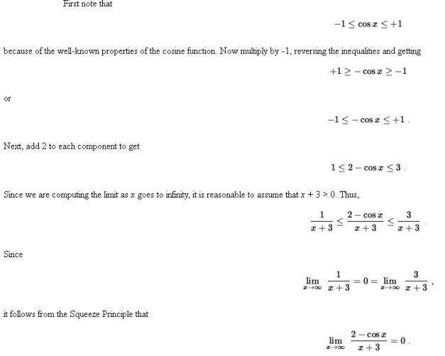 48i Sandwich or Pinching Theorem of Limits Mathematics