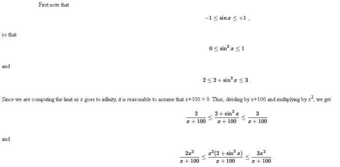 48o Sandwich or Pinching Theorem of Limits Mathematics