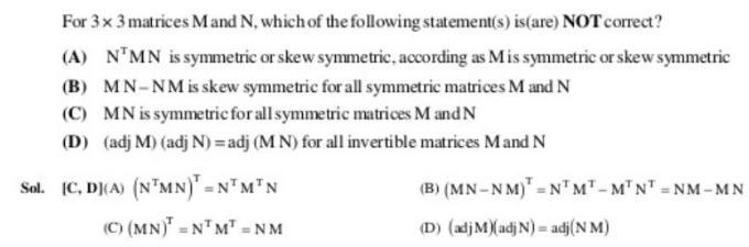 49a Matrix problem