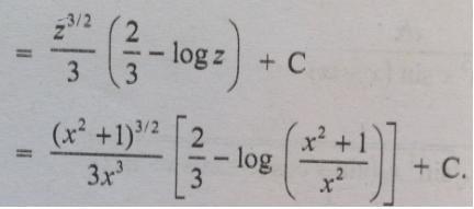 5 root x square plus 1 log x square plus 1 minus