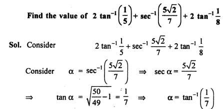 52a Find the value of tan inverse + sec inverse