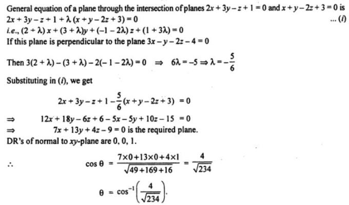 55b Find the equation of the plane passing