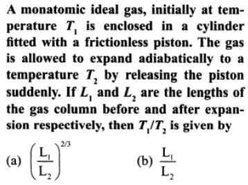 5a monoatomic ideal gas at T1