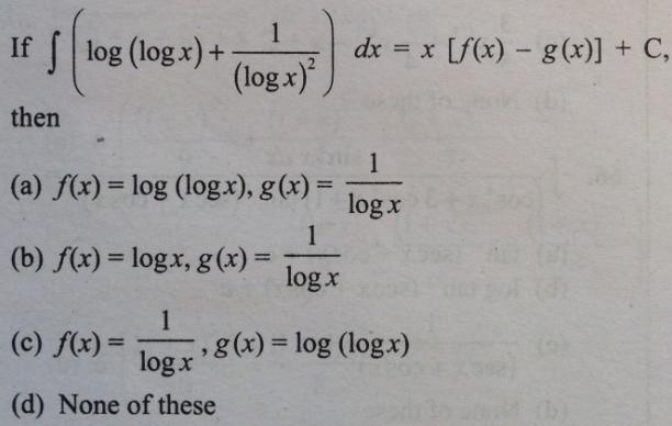 6 Integral log log x plus 1 by log x whole square