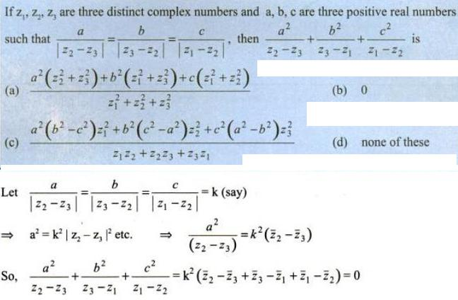 60 C z1 z2 z3 are complex numbers
