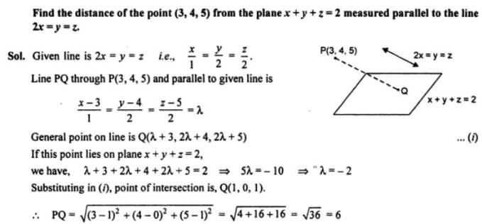 60a Find the distance of the point from