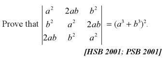 65 HSB 2001 PSB Determinant expansion