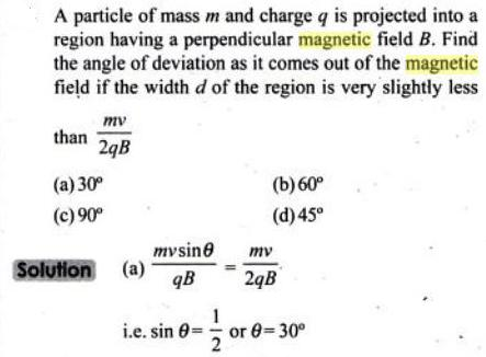 65 particle of mass m charge q is projected SKMClasses IIT JEE