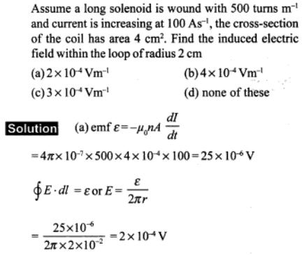 71 long solenoid is wound SKMClasses IIT JEE Bangalore