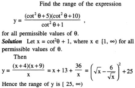83 Q Find the range of the expression given in trigonometric forms