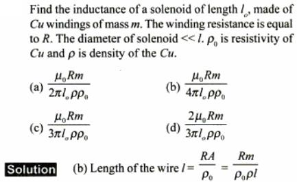 85 Find inductance of solenoid SKMClasses IIT JEE Bangalore
