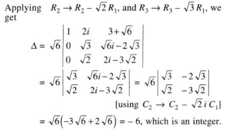 96 Determinant with surds and complex number