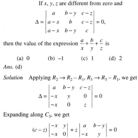 97 Determinant with algebraic expressions