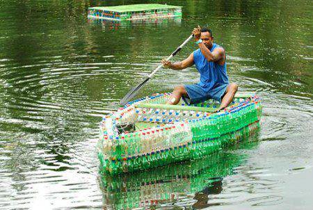 boat of bottles