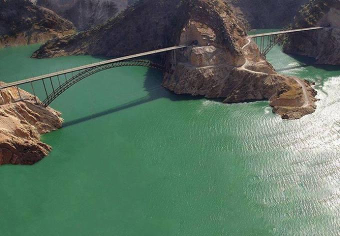 Bridge through Hill