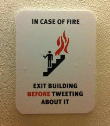 Exit if fire b4 tweeting