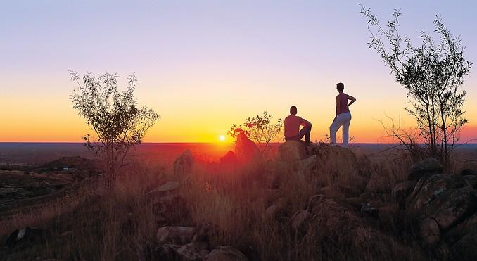 Sun set Australia