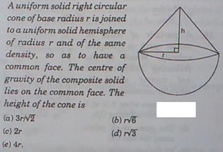 23a Uniform solid right circular cone