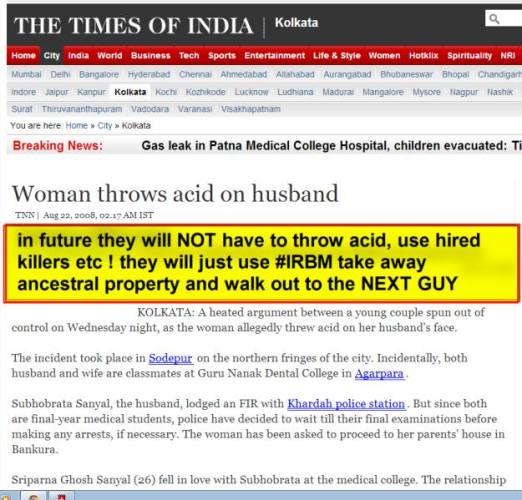 6a woman throws acid on husband