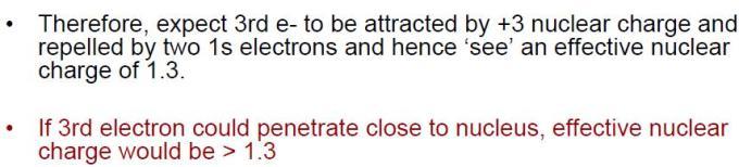 38 Penetration of Atomic orbitals