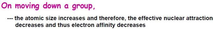 67 Electron Affinity