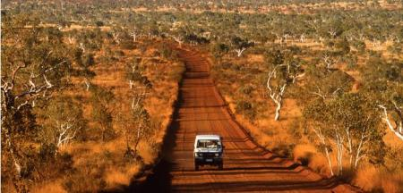 Muddy Road in Australia