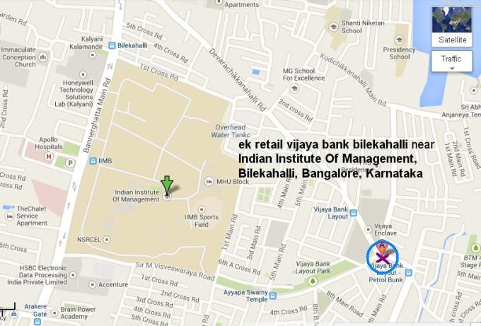 E K Retail Sundaram Shetty Nagar Vijaya Bank Layout Behind IIM Bangalore