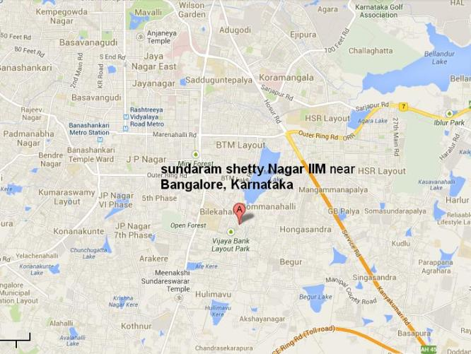 Sundaramshetty Nagar Behind IIM Bangalore Vijaya Bank Layout