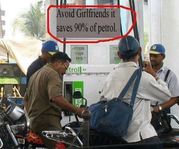 10w avoid girl friends it saves 90 percent petrol