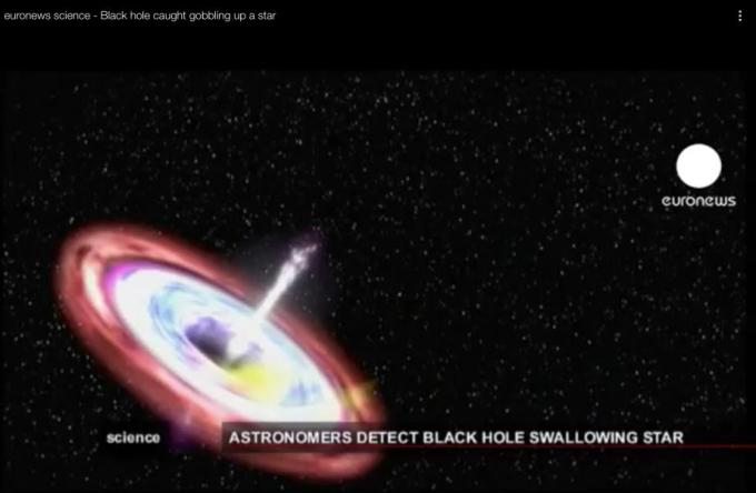 2g Black hole after gobbling up a star