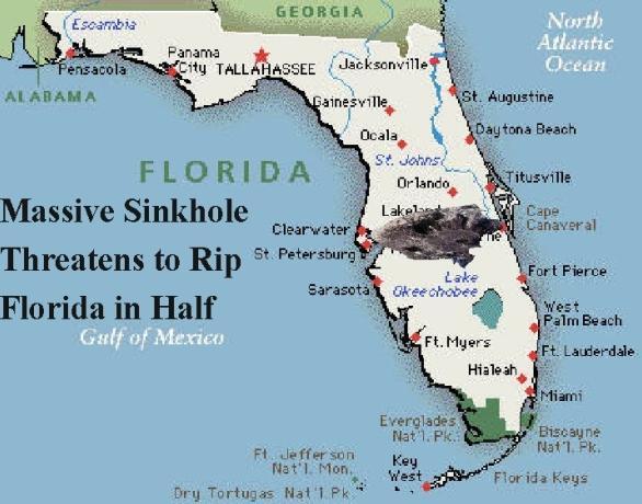 2v Sinkhole threatens to break florida into half