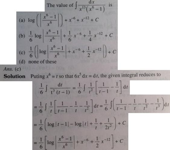 101 Integration x to the power 13 into x^6 minus 1