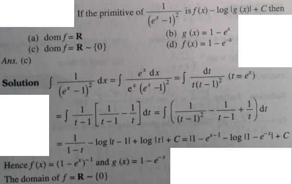 106 Integration e^x minus 1 whole square