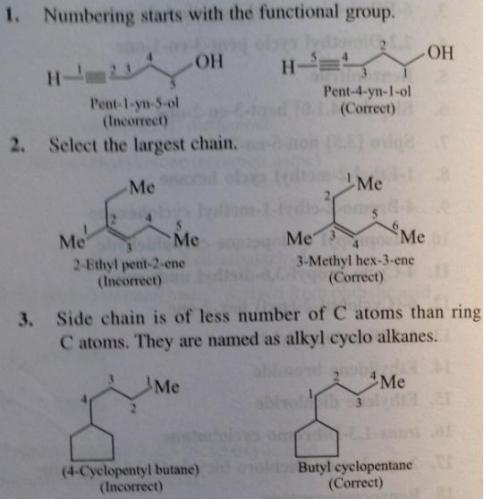 108 Advanced IUPAC rules