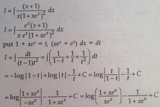 108 Integration x plus 1 by x into 1 plus x into e^x square