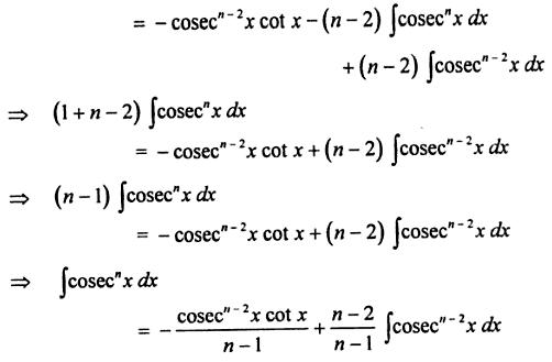 11 reduction formula for Cosec to the power n