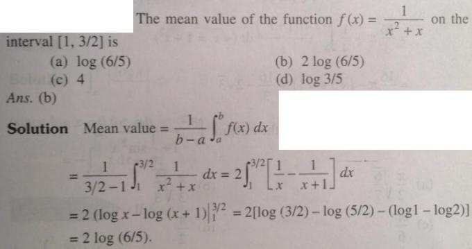 119 Integration mean value