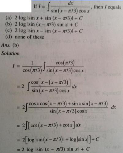 121 Integration Sin x minus Pi Cos x