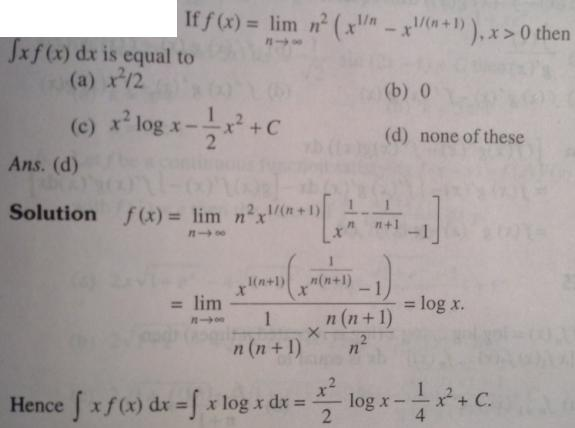 126 Limit solved as Integration