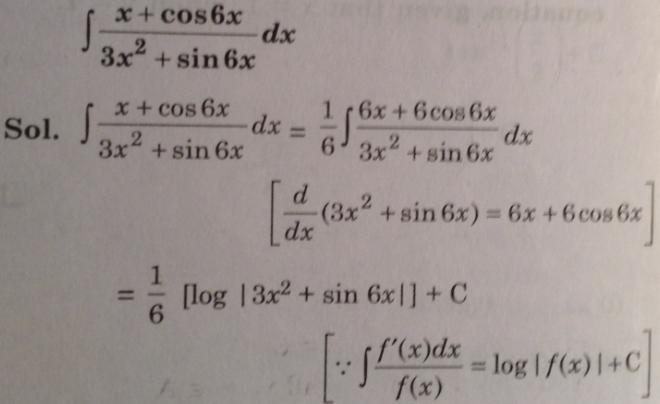 131 Integration x plus Cos 6x by 3 x square plus Sin x