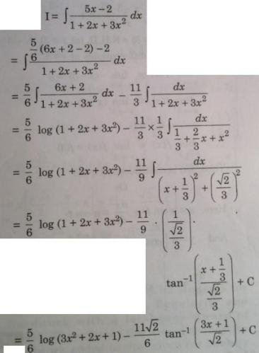 132 Integration sx minus 2 by Quadratic