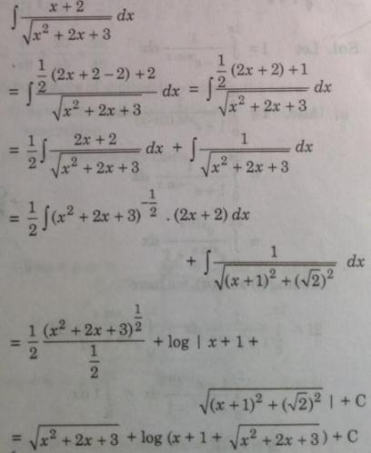 135 Integration x plus 2 by root quadratic