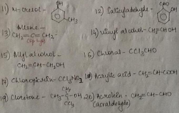 1b m-cresol to acrolein