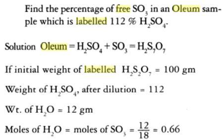 1c percentage labelling of Oleum