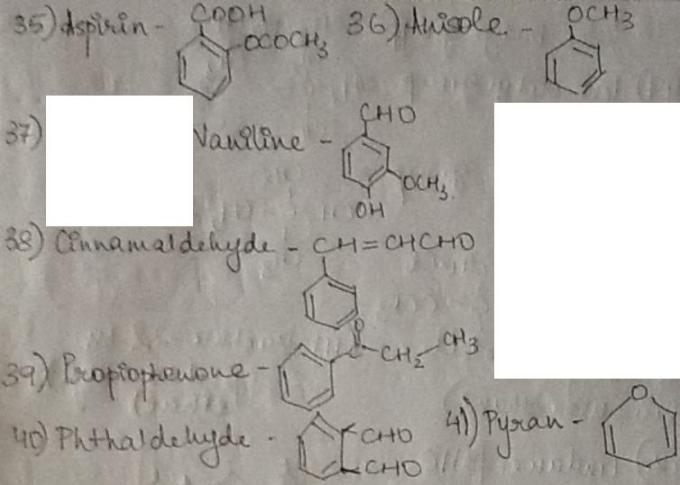 1e Aspirine to Phthaldehyde