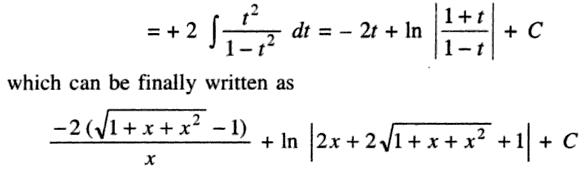 2 Integral ( 1 - root(1+x+x^2) )^2 by (x^2 root(1+x+x^2))